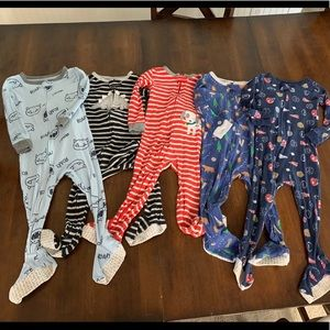 Lot of 5 Carters Cotton Footed Pjs!